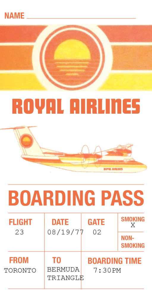 Royal Airlines Boarding Pass